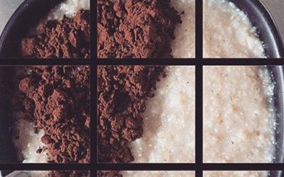 Porridge crusca d'avena e cacao